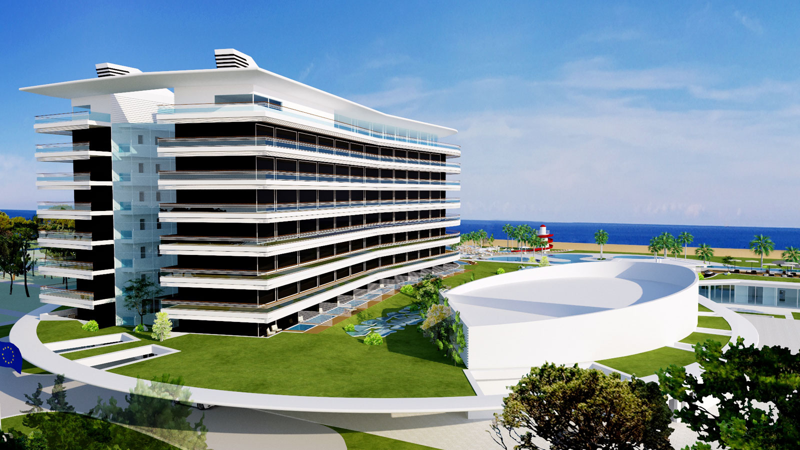 wellness hotel on the Adriatic coast - concept design