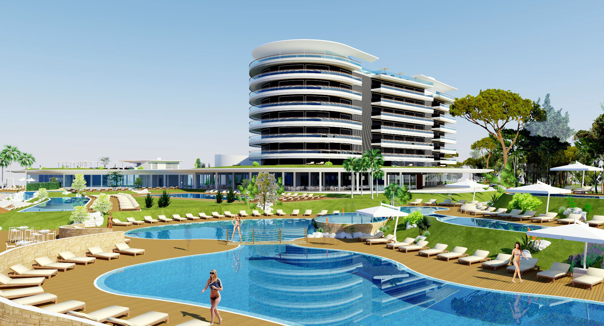 beach and wellness resort on the Adriatic coast