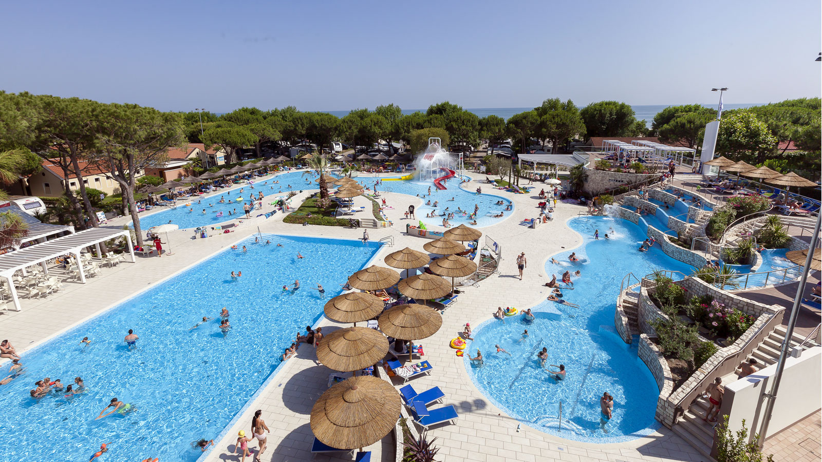 new pool and beach club in cavallino.