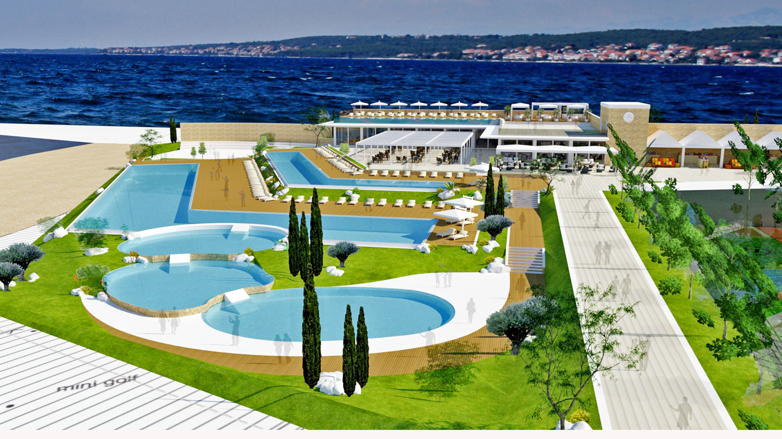 Falkensteiner holiday village master plan borik - zadar