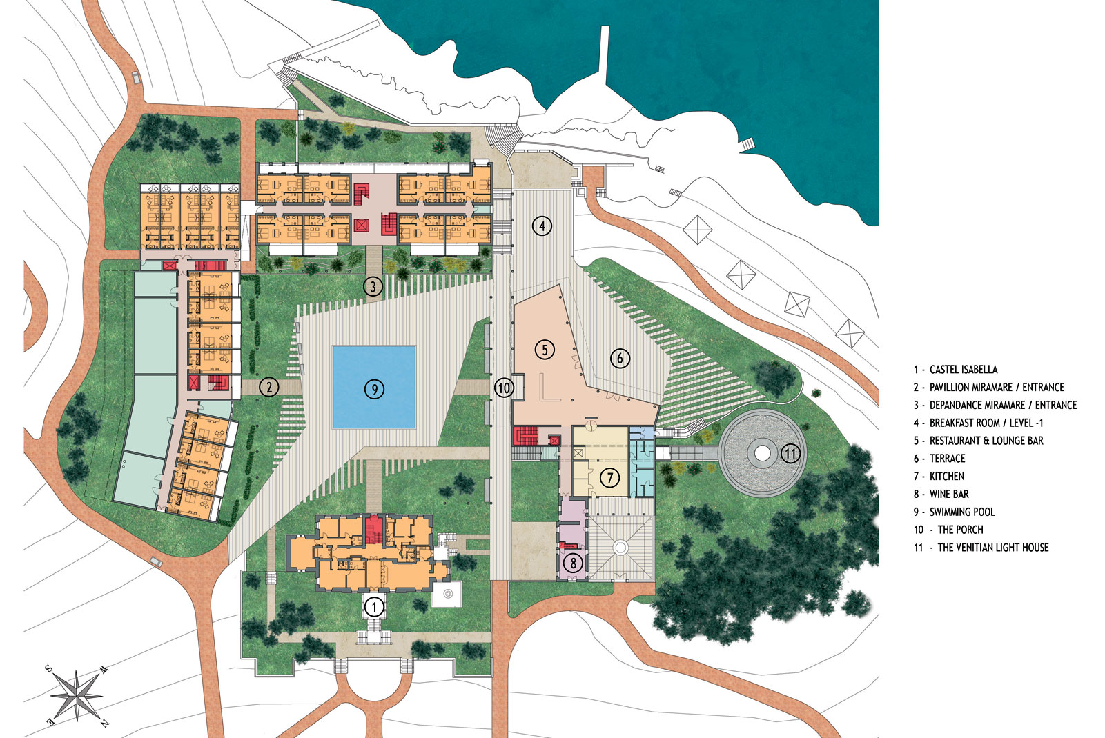 hotel miramare - san nikola island porec - general plan -refurbishment project